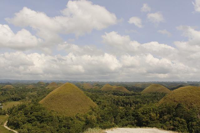 hora na ostrově Bohol