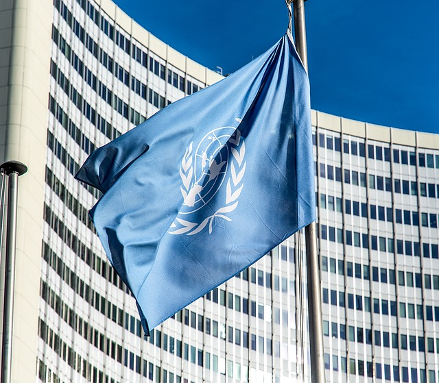 vlajka před budovou