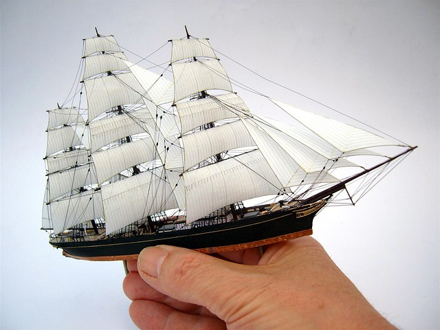 miniaturní plachetnice