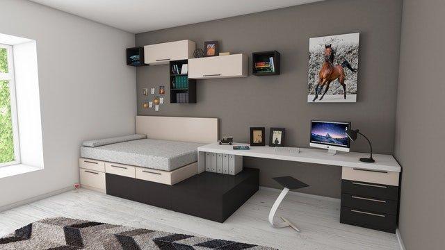 uklizený pokoj