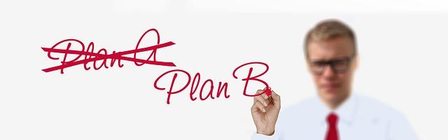 když nevyjde plán A, je dobré, že je ještě plán B