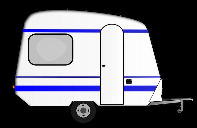 obytný přívěs, ilustrace