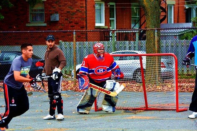 hokej hra brankář